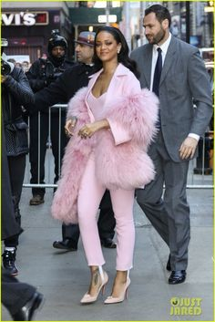 Rihanna in a Pascal Millet ensemble.