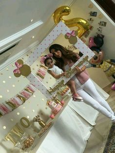 Decoracion de minnie y gold and pink