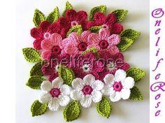 OnelifeRose crocheted flowers
