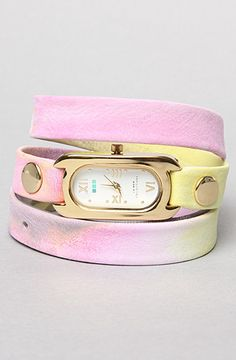 La Mer. The Soho Wrap Watch in Pastel Watercolor