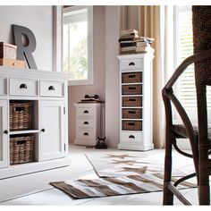 Halifax White Painted Tall Narrow Storage with 5 Rattan Baskets – Duck Barn Interiors White Painted Furniture, Narrow Chest Of Drawers, White Paints, Wicker Basket Drawers, Wood Basket, Wooden Storage, Barn Interior, Rattan, Painting Shelves