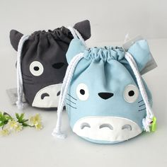 High Quality My Neighbor Totoro String Card Holder Wallets Children Key Holder Pouch Cute Organizer Women Coin Case Bag Purses Totoro Backpack, Diy Sac, Animal Bag, String Bag, Kawaii Shop, My Neighbor Totoro, Fabric Bags, Kids Bags, Craft Ideas