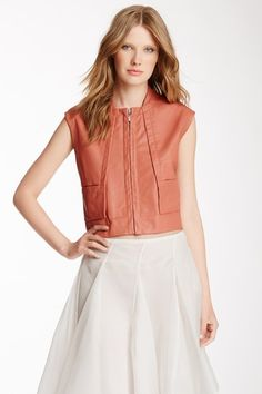 Cuir Leather Vest on HauteLook
