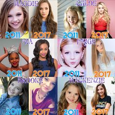 Oh my goodness they've changed so much. I'm watching the whole show again and it's make me cry to see Paige and Brooke and Chloe and how little Mackenzie was and how Nia has matured. It's so sad that the show is over. I'm litterally crying right now. #bringbackdancemoms #freeabbylee there's a whole in my heart right now ❤️