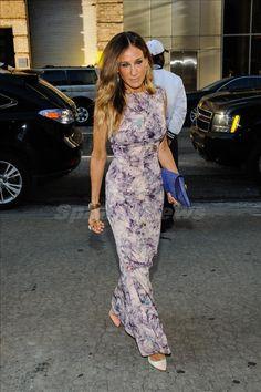 Sarah Jessica Parker Long floral dress