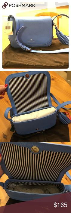 """Kate Spade crossbody """"Penelope"""" in Aliceblue Never used, brand new Kate Spade crossbody bag in a beautiful shade of blue.  Tags attached kate spade Bags Crossbody Bags"""