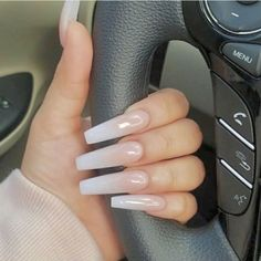 Gel Nails Gel Nails,Nails How to make the right choice between Acrylic nails vs gel nails? If you are not the one to take your appearance and personality lightly, you must be taking good. Perfect Nails, Gorgeous Nails, Pretty Nails, Coffin Nails Long, Long Nails, Long White Nails, Nagel Hacks, Aycrlic Nails, Zebra Nails