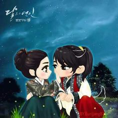 Images and videos of korean drama fan art Moon Lovers, Lovers Art, Korean Art, Korean Drama, Scarlet Heart Ryeo Wallpaper, Chibi, Fan Anime, Kdrama, Drama Korea