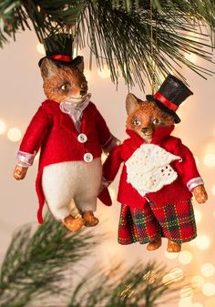 Sneak Under the Mistletoe Ornament, #ModCloth/I ordered the girl. So cute!