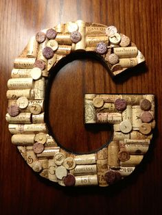 hand crafted wine cork letters made to order 5000 via etsy