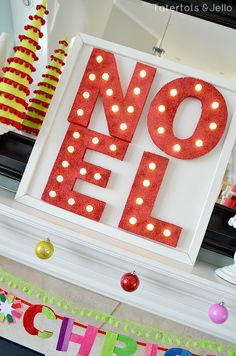 Noel marquee letters made out of styrofoam