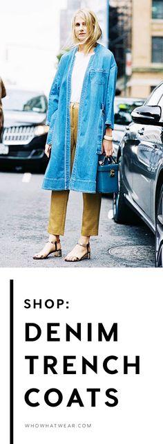 Shop spring's best jacket, the denim trench coat