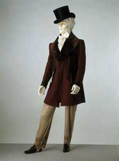 Winter Frock Coat with Fur Shawl Collar, circa 1828-30