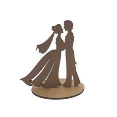 topo de bolo noivinhos casamento em mdf - megatudo