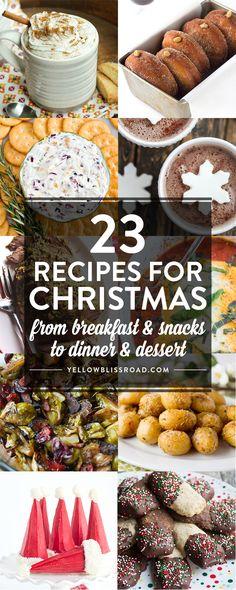 23 Recipes For #Christmas | Christmas Food | Holiday Recipes