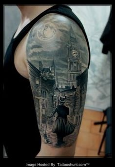 Interest tattoo ideas and design - Myserious Victorian Half Sleeve Tattoo. If you want to make a tattoo, look how it looks from other people!
