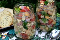 Deli Style Pasta Salad:  Made and loved!  Did not put in jars, but it's a great idea for hubby to grab for work or picnic food.