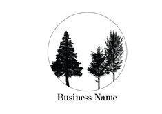Leaf branch logo Nature logo Custom logo design Tree logo Business card Leaves logo Minimalistic logo Premade logo Company logo Branding kit