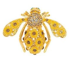Joan Rivers Sunflower Bee Pin