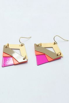 Lacquered Triangle Earrings