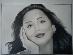 madhuri................... - Sketching by Sonali Chaudhari at touchtalent 71715