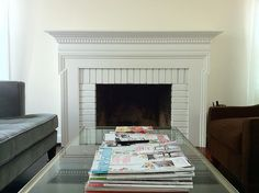 My finished fireplace - www.onestorybuilding.com