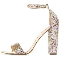 e7011df774e Charlotte Russe Glitter Two-Piece Dress Sandals ( 25) ❤ liked on Polyvore  featuring. Rainbow SandalsRainbow ShoesAnkle ...