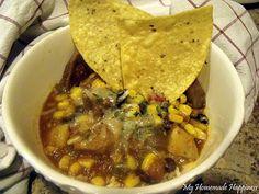Southwestern Beef Stew in the crock pot