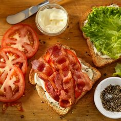Having friends over for a light lunch? Make mini pressed BLT sandwiches for a delicious meal that's not too heavy.