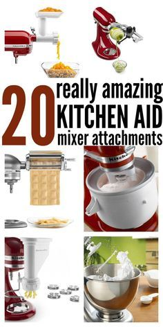 20 Amazing Kitchen Aid Mixer Attachments is part of Kitchen aid mixer recipes I am a kitchen gadget hog really In my hunt for things that make life easier I have found a couple gadgets that hav - Kitchen Aid Recipes, Kitchen Gadgets, Cooking Recipes, Kitchen Tools, Kitchen Hacks, Cooking Tips, Kitchen Appliances, Skillet Recipes, Cooking Gadgets