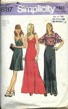 1970s Simplicity 6117 Misses Evening Slip by DawnsDesignBoutique, $17.99