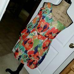 Gb Off The Shoulder Floral Dress