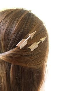 Silver Arrow Hair Pins