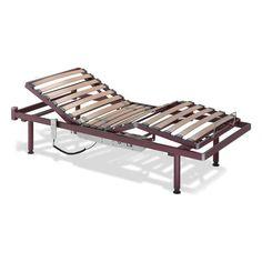 Somier Eléctrico Recom. La cama articulada eléctrica modelo Recom tiene un lecho de 4 planos y 3 articulaciones. Con lamas de haya vaporizada recubiertas de papel melamínico, doble lama con tensores en zona lumbar y bastidor exterior e interior en tubo de acero.