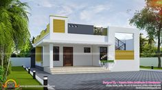 One Storied Flat Flat Roof House, Independent House, Image House, House