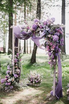 wedding ceremony decorations spring lilac flowers and cloth decorate altar art_p. - Winterhochzeit - The Best Wedding You Deserve Deco Violet, Lilac Flowers, Lavender Roses, Purple Roses, Purple Wedding Flower Arrangements, Lavender Bouquet, Purple Wedding Bouquets, Purple Wedding Centerpieces, Lavender Bridesmaid Dresses