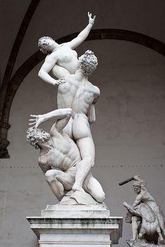 Firenze - De Sabijnse maagdenroof | Loggia dei lanzi
