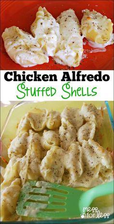 Chicken Alfredo Stuffed Shells. more here