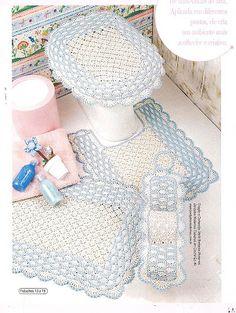 Tricotando com a Carla: Jogo banheiro em Croche