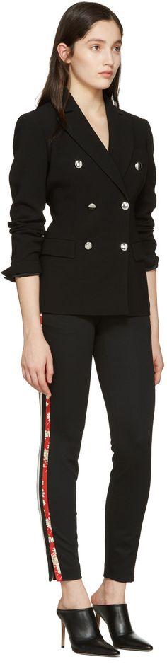 Alexander McQueen - Black Panelled Zip Trousers
