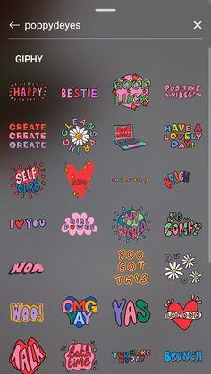 Instagram Words, Instagram Emoji, Instagram Photo Editing, Instagram And Snapchat, Creative Instagram Stories, Instagram Story Ideas, Giphy Gif, Book Gif, Instagram Captions For Selfies