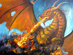 Dragon breathing fire full art lesson for You tube with the Art Sherpa https://www.youtube.com/watch?v=3hMPE7Q1Ofc&list=PLU12uITxBEPHHlOIWGAIezbshH82rGpKp&index=32