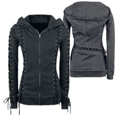 Trendy Hooded Long Sleeve Lace-Up Solid Color Hoodie