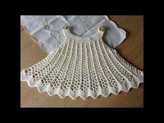 vestido a crochet para niñas de 1 año - YouTube