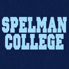 Navy Blue Spelman College Dorm Life Women's Off The Shoulder 3/4 Sleeve Shirt