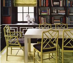 i've thought about doing a dining room/library. and i need to have some of these chairs!