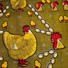Akoko nan tia 'ba, na nkum 'ba, 'A hen treads upon chickens but does not kill them.' African Fabrics have long been used to not only convey a sense of style and flair but to communicate age old moral teachings through proverbs.