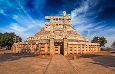 Sanchi Stupa Sanchi Stupa is located around 46 km away from Bhopal, Madhya Pradesh (a large state in central India) on the hilltop of Raisen district. It is one of the greatest gateways of India and. Temple Architecture, Indian Architecture, Great Stupa At Sanchi, The Great Stupa, Sanchi Stupa, Attraction, Destinations, Ancient Buildings, Madhya Pradesh