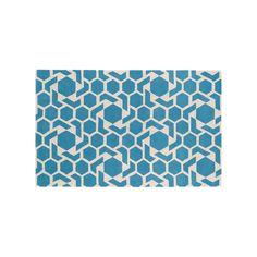 Kaleen Revolution Geometric Star Wool Rug, Blue