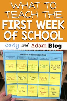 The lessons you teach at the beginning of the year are crucial for laying the foundation and setting the tone for the rest of the school year During the first week, your schedule should be a mix of teaching procedures and expectations as well as b - f 1st Day Of School, Beginning Of The School Year, Middle School, High School, School School, Back To School Ideas For Teachers, 100 Day Of School Project, Back To School Art, Back To School Teacher
